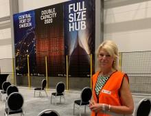 Utrikeshandelsministern invigde nya papperslagret i Gävle hamn