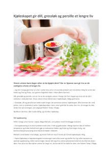 Kjøleskapet gir dill, gressløk og persille et lengre liv