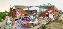 Presseinfo: Kunst für sauberes Trinkwasser im Fußballstadion des FC St. Pauli vom 14. bis 17. Juli