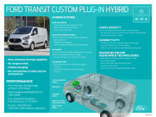Ford Transit Custom PHEV Infographic