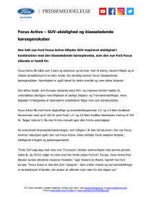Focus Active – SUV-alsidighed og klasseledende køreegenskaber