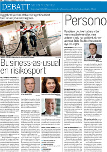 Business-as-usual en risikosport