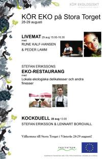 Live-mat, ekorestaurang och kockdueller i Västerås 28-29/8