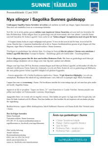 Nya slingor i Sagolika Sunnes guideapp