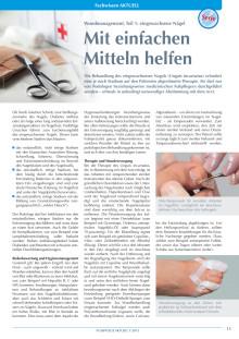 Eingewachsene Nägel: Wundmanagement - Mit einfachen Mitteln helfen