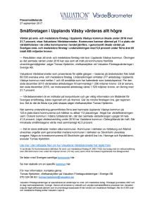 Värdebarometern 2017 Upplands Väsbys kommun