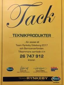 Team Rynkeby Göteborg samlade in 26 747 912 kr till Barncancerfonden!