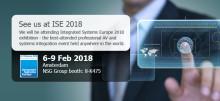 NSG Gruoup ställer ut på Integrated Systems Europe 2018 mässan i Amsterdam