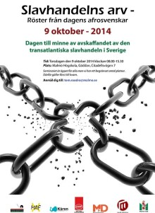 Gratis konferens för Malmöbor om slavhandelns arv