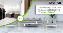Marble Design Vinyl Floor vs. Real Marble Flooring - Which Is Better?
