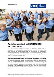 Ausbildungsstart bei DÄNISCHES BETTENLAGER