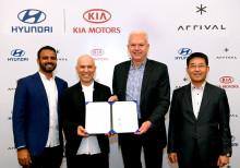 KIA koncernen foretager strategiske investeringer i Arrival for at samarbejde omkring elektriske erhvervskøretøjer
