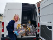 Caring Letchworth colleagues donate haul of Easter eggs to NHS staff