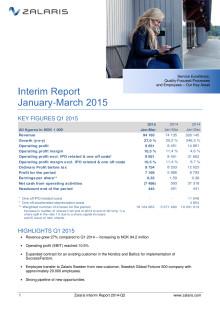 Zalaris Interim Report Q1 2015