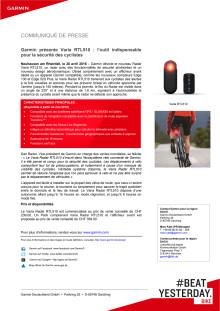 Garmin présente Varia RTL510 : l'outil indispensable pour la sécurité des cyclistes