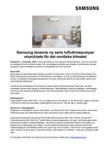 Samsung lanserar ny serie luftvärmepumpar utvecklade för det nordiska klimatet