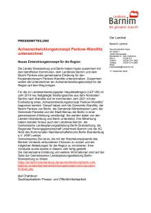 Achsenentwicklungskonzept Pankow-Wandlitz unterzeichnet