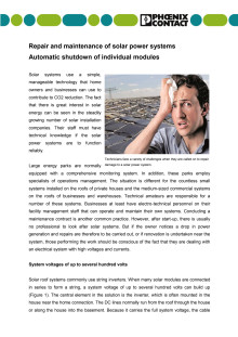 Repair and maintenance of solar power systems