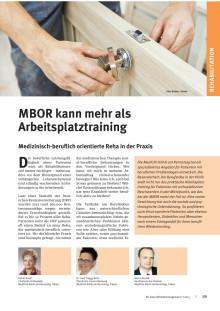 MBOR kann mehr als Arbeitsplatztraining - Artikel in KU Gesundheitsmanagement (8/2015)