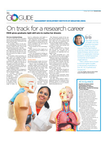 On track for a research career