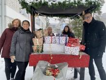 Yrkesgymnasiet samlade in julklappar till Hjältarnas hus