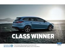 """Ford kåret til """"Mest innovative volummerke i 2015"""". Focus ble klassevinner."""