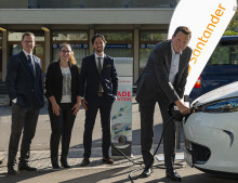 E-Mobil am Campus Saarbrücken: Santander eröffnet E-Ladesäule