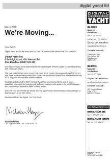 Digital Yacht UK - On The Move