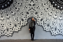 Traditional lace turns to art through NeSpoon during No Limit Street Art