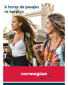 Este miércoles, por el Día del Amigo: Norwegian ofrecerá descuentos de hasta 20 por ciento para sus vuelos de cabotaje y a Londres