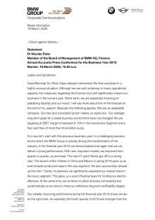 AAPC 2020: Statement Dr. Nicolas Peter