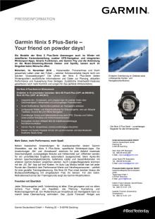 Garmin fēnix 5 Plus-Serie – Your friend on powder days!
