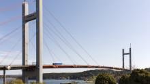 Svevia byter ut sexton kablar på Tjörnbron
