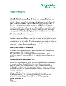 Schneider Electric inne på Topp 10-listen over bærekraftige konsern