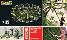 Nå nye høyder med 2 hagemaskiner i RYOBI® One Plus 18 volt serien
