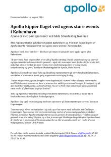 Apollo kipper flaget ved ugens store events i København