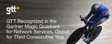 GTT uppmärksammade i Gartner Magic Quadrant för sina globala nätverkstjänster tredje året i rad