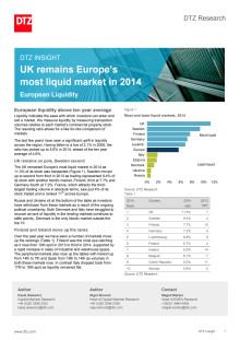 DTZ Insight European Liquidity 2014