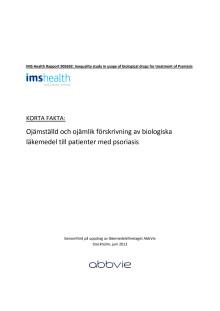 Psoriasis - Ojämställd och ojämlik förskrivning av biologiska läkemedel till patienter med psoriasis