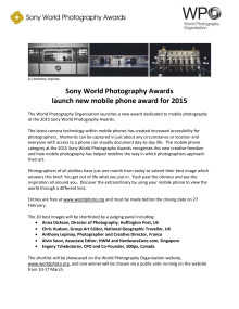 Sony World Photography Awards launch new mobile phone award for 2015