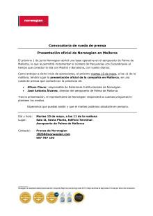 Descarga convocatoria: aeropuerto de Palma de Mallorca (martes 10 de mayo, 11 de la mañana).