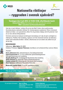 Almedalen inbjudan riktlinjer 5 juli 2012