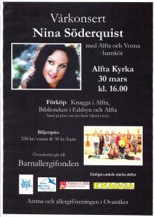 Vårkonsert i Alfta kyrka till förmån för Barnallergifonden