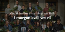 Vilka vinner Stora Journalistpriset 2017? I morgon kväll vet vi!