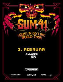 Et af 00'ernes store pop punk bands Sum 41 kommer til Amager Bio.