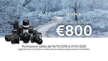 Al via il cashback su fotocamere, ottiche e camcorder di Sony
