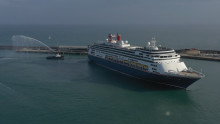 Fred. Olsen Cruise Lines' new flagship Bolette sets sail from Dover on scenic Maiden Voyage