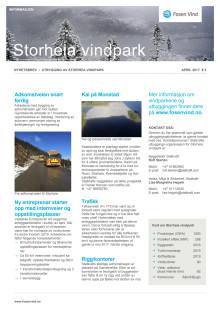 Nyhetsbrev Storheia vindpark #3