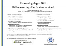 Program Renoveringsdagen 2018