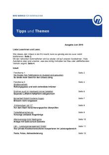 Tipps und Themen 6-2016